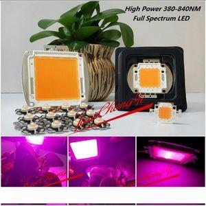 Free shipping 3W 10W 20w 30w 50W 100W 150w 200W 380-840nm led grow chip,full spectrum led grow lights for hydroponics