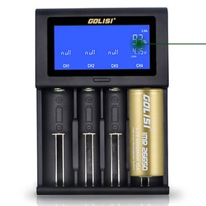 GOLISI i4 Smart Charger 18650 26650 20700 Batteria schermo LCD Display USB 4 slot di ricarica 2A veloce intelligente del caricatore libero di trasporto vv