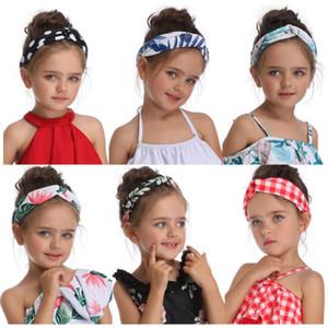 새로운 화려한 헤어 액세서리 보헤미안 신생아 유아 머리띠 폴리 에스테르 탄성 아기 머리 장식 키즈 헤어 밴드 소녀 나비 매듭
