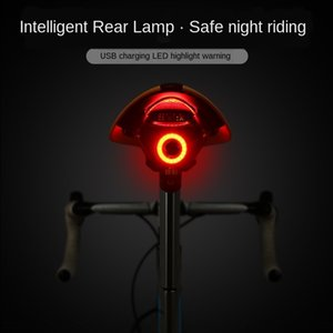 100 taillight Intelligent Brake induction mountain bike lamp usb charging road car night bicycle Tail light bicycle riding taillight