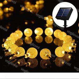 Солнечный свет сада шнура СИД шарика с пузырем 20 50 100LEDs теплый белый водонепроницаемый на Рождество Свадьба партии сад DHL