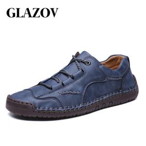 Männer Turnschuhe Mode-Mann-beiläufige Schuh-Leder-Handgemachte Breathable Mann Schuhe Herren Loafers Mokassins Adult Schuhe