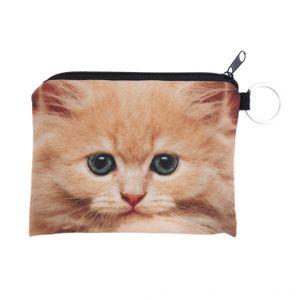 zohra new 3D digital printing kitten coin Digital Card wallet purse animal key card bag coin bag wallet