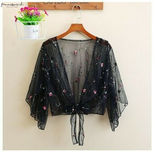 Womens Tops Lace And Blouses Summer Floral Blouse Shirt Cardigan Thin Outwear Hollow Out Blouse Cover Up Blusas Femininas Elegante