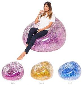 Inflable de PVC de las lentejuelas de Paillette Water Beach adulto colchón de aire Moda-Sofá nueva silla de la piscina flotadores inflables silla de salón Niños Juguetes Xxjoa