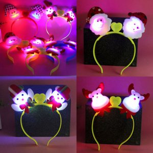 Christmas Kids LED Light Santa Deer Hairband Headband Hat Xmas Decoration