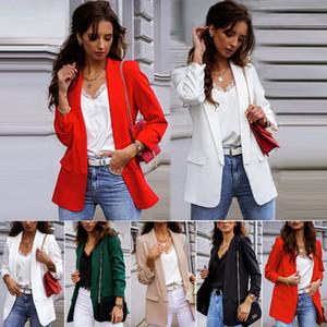 2020 Outono e Inverno Comércio Exterior pequena paletó Casual Suit Temperamento Popular Womens era magro Tamanho Grande