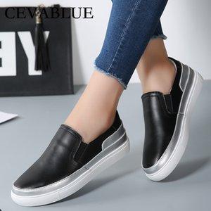 CEVABULE ayakkabı Kadın Deri Düz Topuklar Ayakkabı Düz Taban Tek Doğa Sporları Kadın Rahatlık CQY-K598
