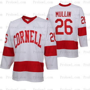 Мужские Cornell Big Red NCAA College хоккей Джерси 27 Морганом Barron 26 Тристан Mullin 8 Янни Kaldis 23 Jacob Macdonald Мужчины Женщины Молодежь