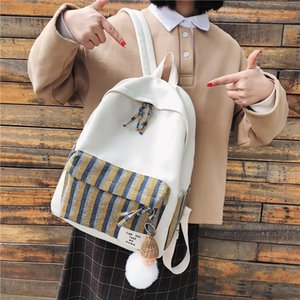 2019 New style girls' bag with ancient feeling Korean ulzzang campusstudents' backpack Plaid backpack fashion