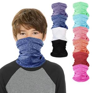 DHL Shipping Child Headband Balaclava Magic Scarf Face Shield Kids Bandanas Neck Gaiter Girls Boy Outdoor Protective UV Mask Headwear L411FA