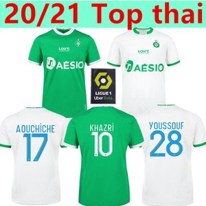 20 21 AS Saints-Étienne maglie di calcio maillot de foot Youssouf 2020 2021 Etienne Khazri Boudebouz AHOLOU Fofana UOMO BAMBINI KIT CALCIO SHIRT
