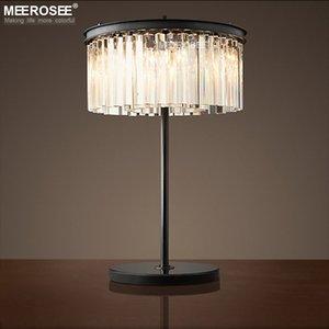 Vintage Crystal Black Table Light Desk Light for Reading Room Crystal Table Lustres de Cristal Lighting Home Decoration