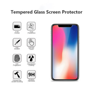 High Quality Tempered Glass 2.5D 9H Screen Protector For iPhone 6 6S 7 8 7Plus 8 Plus SE 11 11 Pro Max X XS XR Anti Scratch Anti-fingerprint