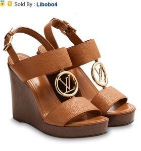 Libobo4 1A3R4S VEDETTE WEDGE SANDAL 패션 BROWN 여성 하이 힐 로리타 신발 운동화 드레스 슈즈 PUMPS