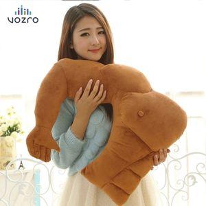 VOZRO Originality Cartoon Arm Muscle Male Cushion Boyfriend Sleep Neck Travel Body Knee Pillow Gift Cuscini Kissen Cojin Viaje CX200721