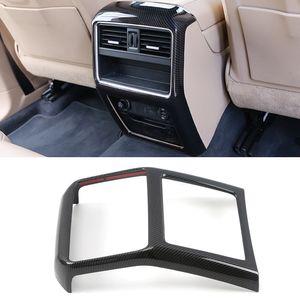 Acessórios Car Voltar Rear Seat Air Vent saída Quadro guarnição adesivo cobrir Decoração para Porsche Cayenne 2018 2019 2020