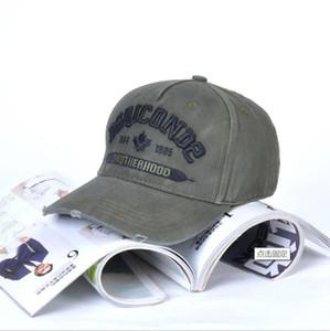nova tampa DSQICOND2 mens luxo designer de boné tampas de bonés de beisebol mulheres Casquette bordados ajustável casquette Cap Dad