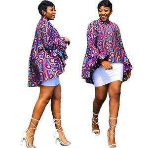 African Dresses for Women Full Sleeve 2020 News Dashiki Print Autumn Fashion Ladies African Clothes Ankara Bazin Top Plus Size T200713