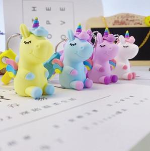 PVC tridimensional de goma suave sueño llavero animal de la historieta de personalización creativa 3D Animal muñeca colgante del bolso EEA1861