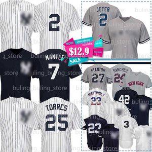 2 Дерек Джетер трикотажных изделий бейсбола 99 Аарон судья Маттингли Бейб Рут Gleyber Торрес Джанкарло Stanton Санчес Ривера