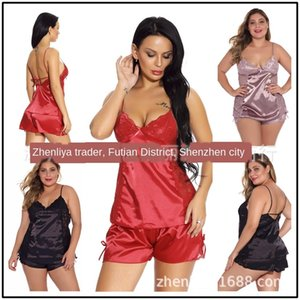 imitation silk Home clothes Sling pajamas sling home clothes sexy underwear sexy pajamas online red suit
