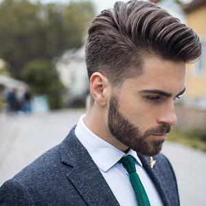 """Homens Toupee Durável Cabelo Peça Mono Man Sistema de Cabelo Substituição Europeu 8A Remy Human Wig peruca para homens 10 """"x8"""""""