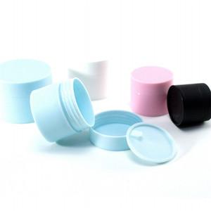 Silindirik Emülsiyon Vaka Kozmetik Kavanozları Kutusu Çift Pp Buzlu Konteyner Temizleyici Krem Organizatör Katı Renk 1 3yb B2 boşalt ayırın Maske
