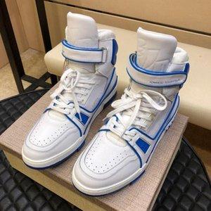 Zapatos de los hombres de moda de lujo nuevos de alta Top zapatillas de deporte casuales zapatos de la zapatilla de deporte del instructor de microfibra elástica de arranque Chaussures Pour Hommes Deportes Moda Ty