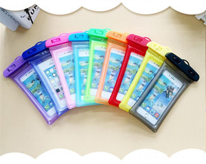 Universal Airbag Waterproof bag IPX8 Waterproof Floating Airbag case bag Protective Mobile Phone Bags Pouch For Diving Swimming Bag DHL