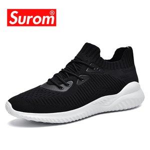 SUROM Kalite Moda Sneakers Erkekler Nefes Yumuşak Mesh Günlük Ayakkabılar Konfor Esneklik Eğitim Erkek Yetişkin HAFİF Ayakkabı