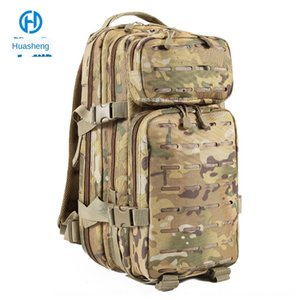 Huasheng composite fabric large capacity mountaineering travel outdoor red sea action same stylefans backpack tactical backpack