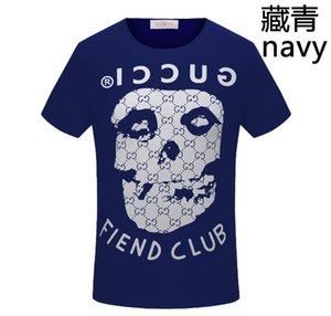Mensentwerfer T-Shirts ss Frühling und Sommer neuer hochwertiger Baumwolldruck kurzer Ärmel Rundhalsausschnitt Panel T-Shirt Größe: S-L-XL-6x GUCCI
