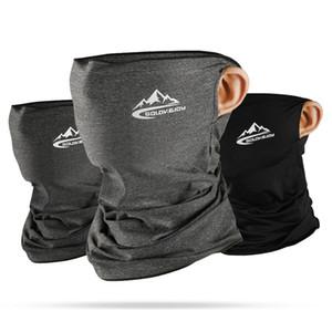 Primavera Verano ciclo medios máscara de piel de la cara diseñador fresco de seda del hielo transpirable Protección UV Deportes Headwear bicicletas máscara de la venda protectores faciales