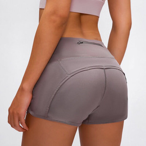Yoga Court Nouveau à la taille haute Femmes de yoga Shorts Sports Sports Sport Sport Culotte Culotte Leggings élastiques Fitness Dame Run Speed ​​Short Yogaworld