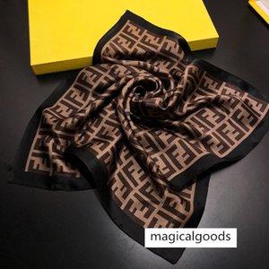 Designer Petit carré de satin écharpe de cou Echarpe Foulard Femme Bandana de femmes élégantes cravate cheveux bande Wrap Mouchoir Sjaal 50 * 50cm pas de boîte