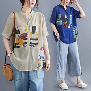 Fat sister Top T- shirt mm slim top female 2020 New Fashion 2020 summer clothes large size women's loose shirt V-neck T-shirt