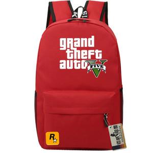 Grand Theft Auto cinque zainetto Rockstar 5 gioco zainetto resistente zaino sacchetto di scuola casuale gta zaino giornata all'aperto pacchetto