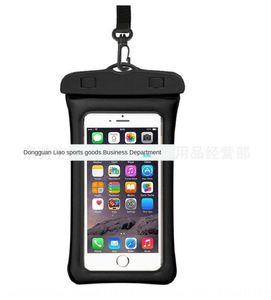 g5YJo New floating air inflatable waterproof Storage Waterproof phone bag fingerprint touch screen mobile phone storage bag swimming transpa