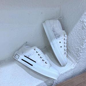 Dior shoes Последний цветок технический холст кроссовки косые вскользь высокого качества спортивной обуви женских мужская обувь класса люкс обувь Xshfbcl