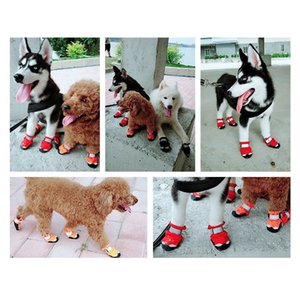 Pet Dog Puppy Shoes Boots Cat Anti Slip Paw colorful Protective Waterproof Anti-Slip good quality free shipping