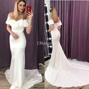 Vestido De Novia Mermaid Wedding Dresses Off The Shoulder Lace-Up Back Country Garden Beach Bridal Gowns Cheap 2020