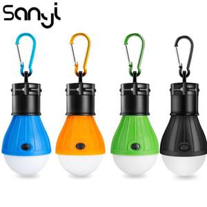 SANYI Tenda Lampada lanterna portatile per la luce di funzionamento della lampadina LED di campeggio della batteria di alimentazione 3xAAA Caccia pesca di notte