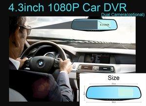 4.3 Inch Full HD 1080P Car Dvr Camera Rear view Mirror Digital Video Recorder Dual Core Chipset Recorder Dash Cam Car DVRs