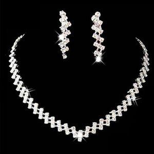 Sumptuous Hot Bridal Wedding Prom Jewelry Crystal Rhinestone Necklace & Earring Set