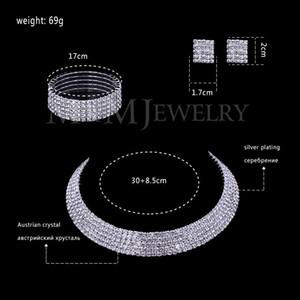 Crystal Silver claires Vente en gros autrichien bijoux en plaqué Ensembles ronde collier d'oreilles Bracelet pour les femmes accessoires de mariage TL294 + # SL090 TjvY
