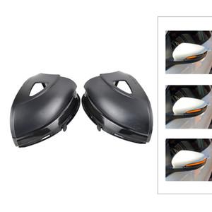 동적 전원을 켜고 신호 LED 사이드 윙 백미러 표시 깜박이 리피터 라이트 램프 VW 골프 6 MK6 GTI R32 08-14 투란