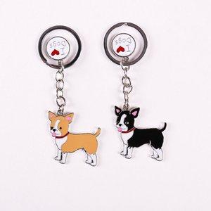 열쇠 고리 패션 치와와 애완 동물 개, 열쇠 고리, 가장 친한 친구의 선물 키 체인 여성 쥬얼리 자동차 태그 키 도매 저렴한 체인 가방