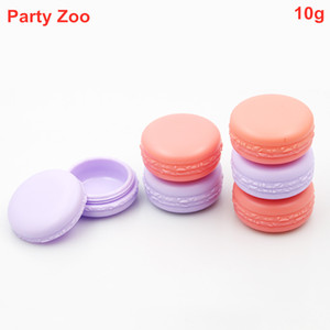 600 X 10ml Empty Refillable Macaron Travel Plastic Cosmetic Sample Containers with Screw Cap Jar Makeup Face Cream Storage Box