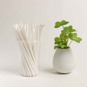 DHL Drinking Paper Straws 100pcs lot ECO Friendly Paper Straws for Birthday Wedding Decorative Party Event Supplies Black White Colors